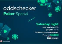 Mainkan Poker khusus oddschecker Sabtu Ini! $ 2.500 Ditambahkan ke Prize Pool