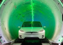 : Tesla Model X inside The Boring Company
