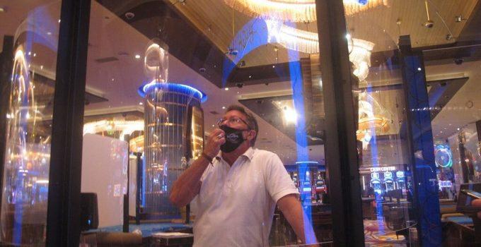 Dilarang merokok, minum atau makan ketika kasino Atlantic City buka