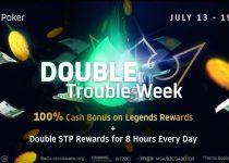 Double Trouble Week di Run It Once Poker! GANDAKAN Splash the Pot + Legends Rewards