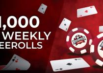 Menangkan Bagian Anda Dari $ 1.000 Dalam Freerolls Mingguan Dengan Rounder Casino