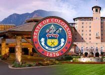 Colorado State Seal Dengan Latar Belakang Hotel Kasino