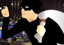 Gambar Grafis Pencuri di Kasino