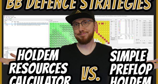 Pertahanan Buta Besar - Kalkulator Sumber Daya Holdem vs. Holdem Preflop Sederhana