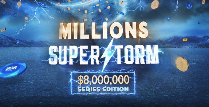 Lihat Acara Daily Millions Superstorm di 888poker