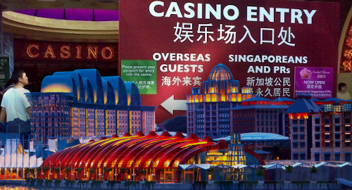Kasino Singapura membayar denda yang lebih kecil, menerima lebih sedikit penduduk setempat